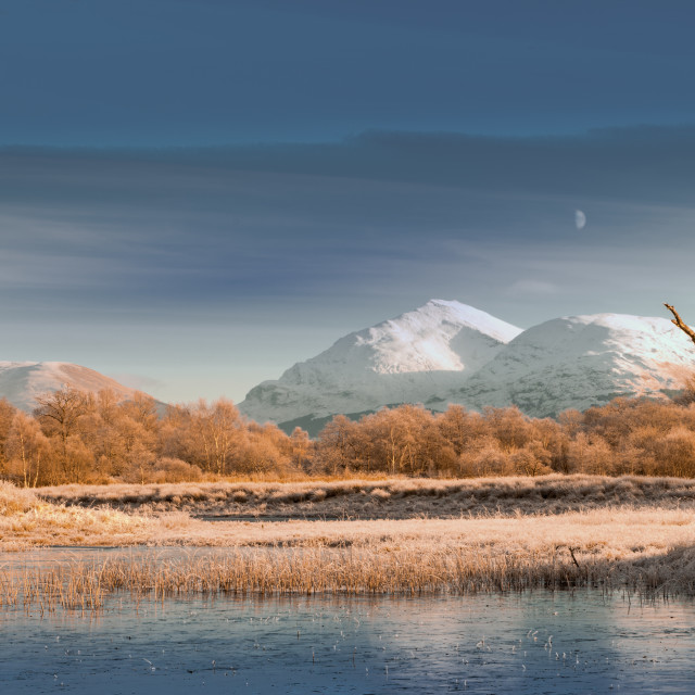 """Monrise on Loch Awe"" stock image"