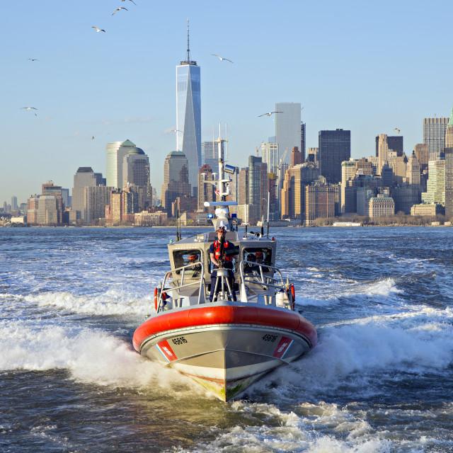 """New York Coast Guard"" stock image"