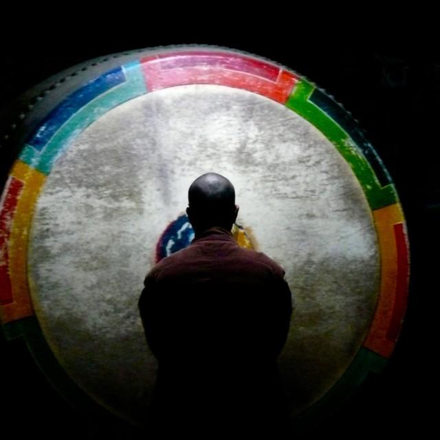 """""""Monk Music Ceremony"""" stock image"""