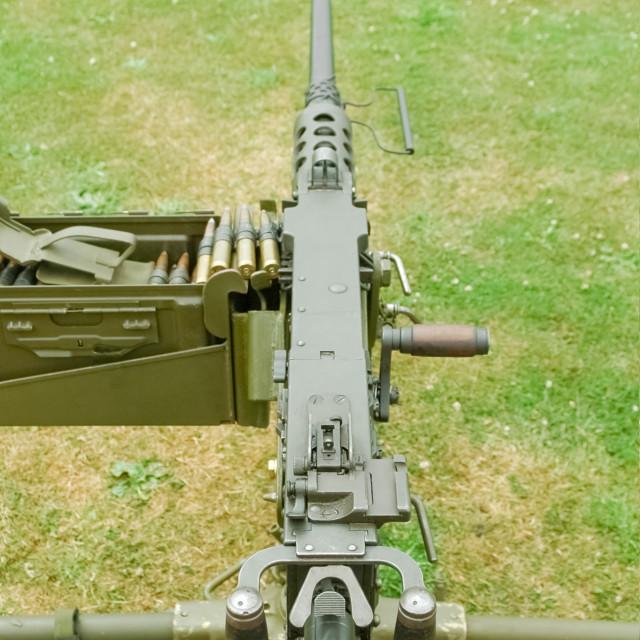 """""""WW2 machine gun"""" stock image"""