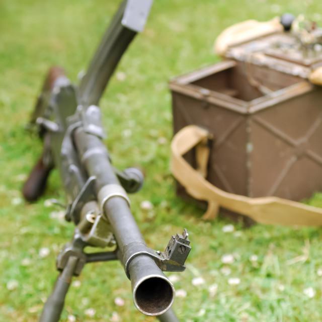 """""""machine gun"""" stock image"""
