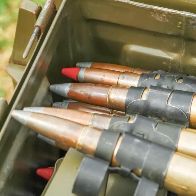 """machine gun bullets"" stock image"