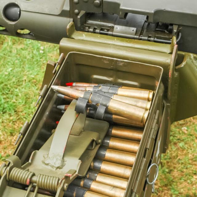 """""""machine gun ammo"""" stock image"""