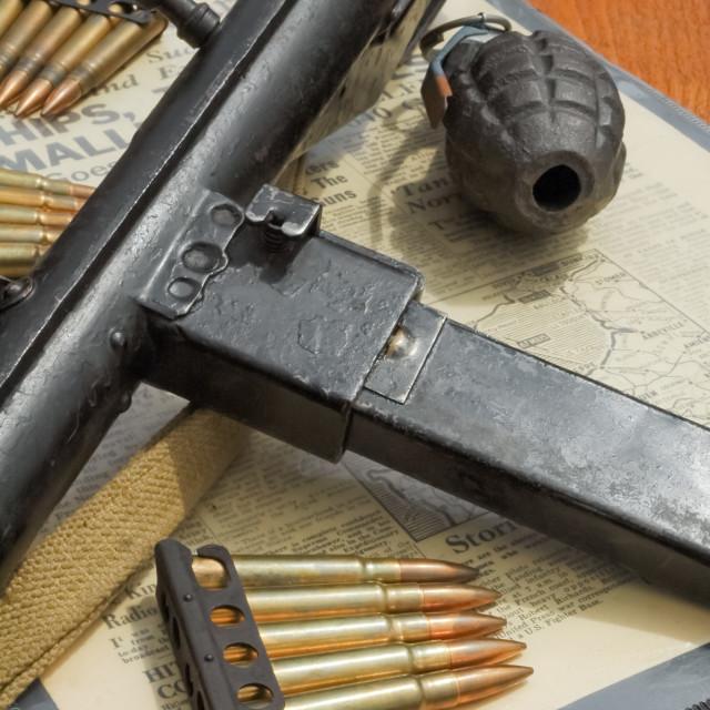 """WW2 weaponry"" stock image"