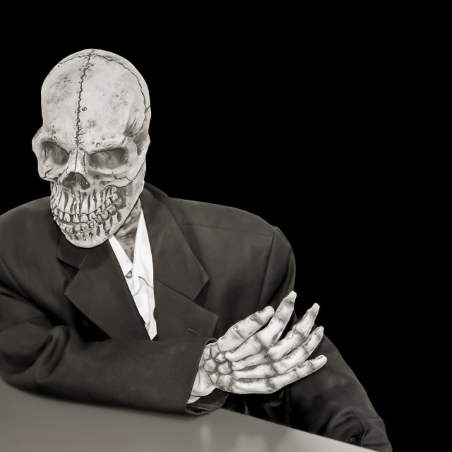 """creepy skeleton"" stock image"