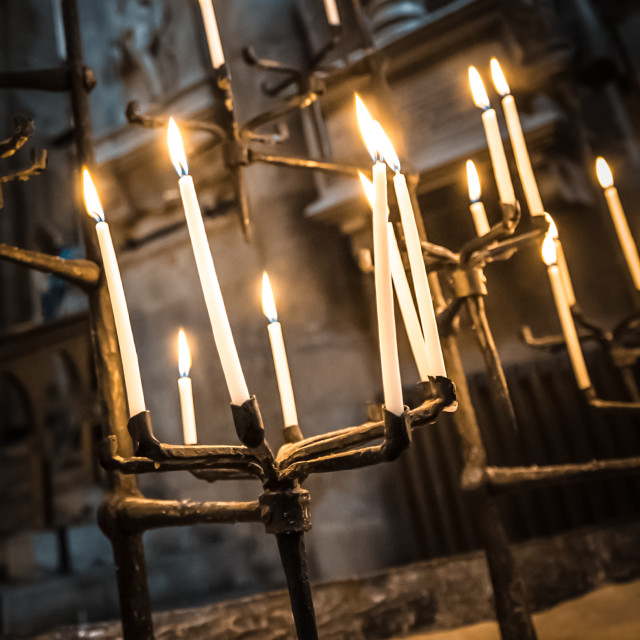 """gothic candles"" stock image"