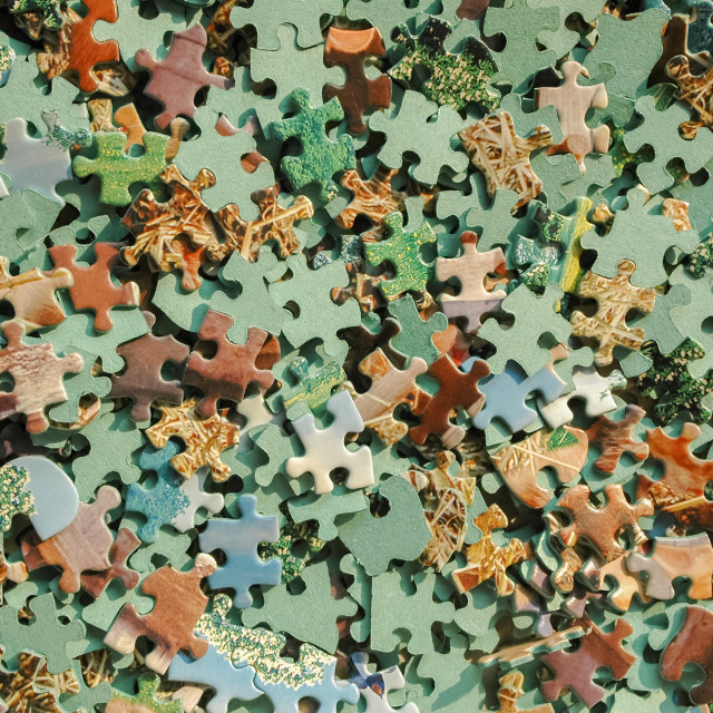 """jigsaw pieces"" stock image"
