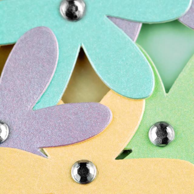 """cardboard flowers"" stock image"