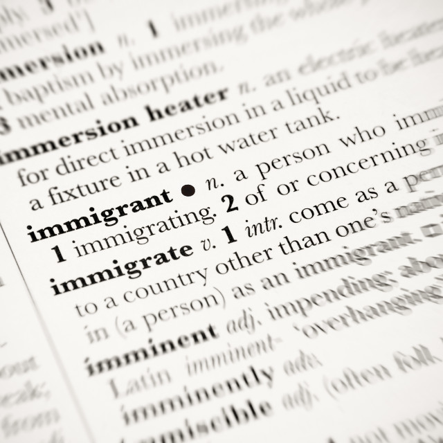 """immigrant"" stock image"