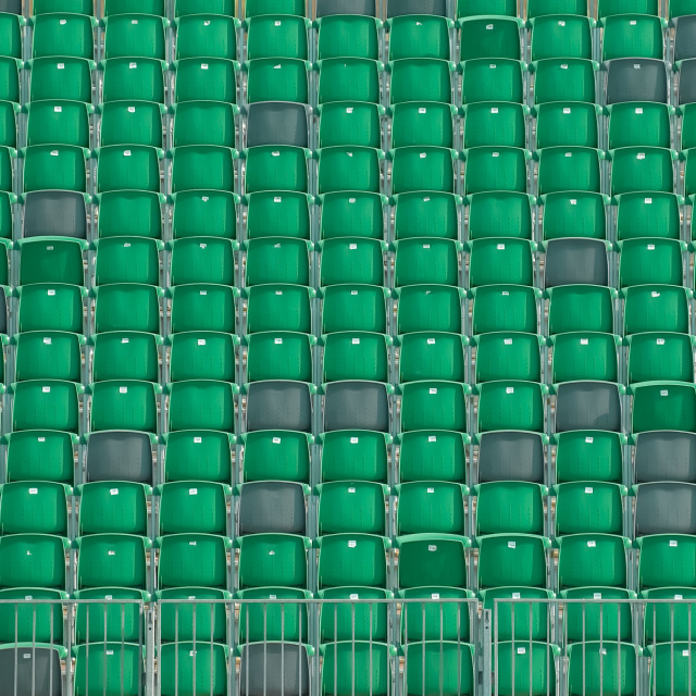 """""""grandstand seats"""" stock image"""