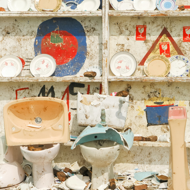"""smashed ceramics"" stock image"