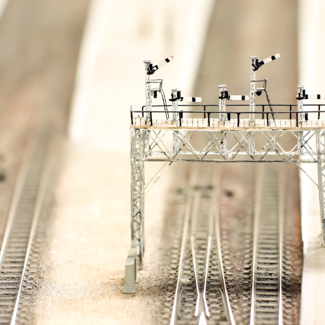 """model signal gantry"" stock image"