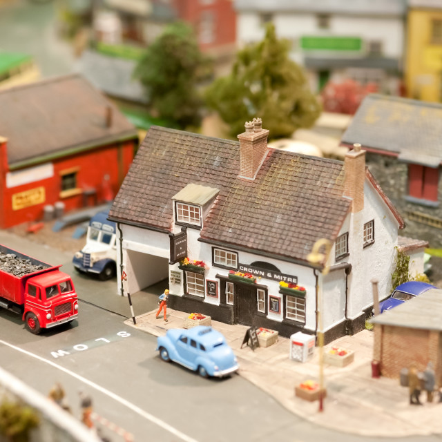 """model village pub"" stock image"