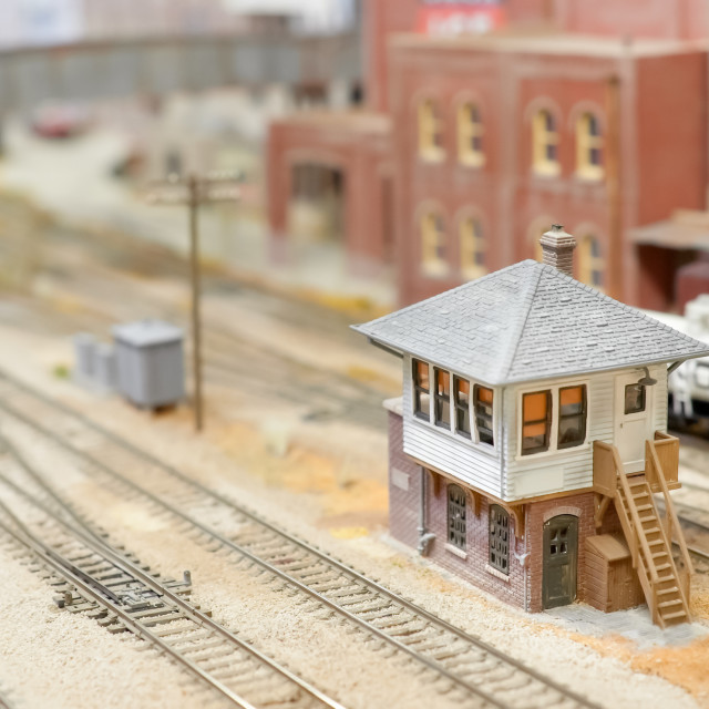 """train set signal box"" stock image"