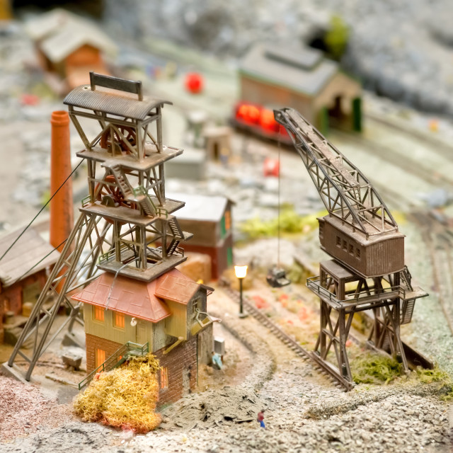 """model coal mining"" stock image"