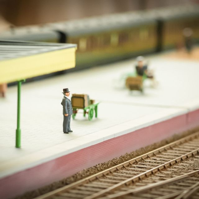 """waiting for a train"" stock image"