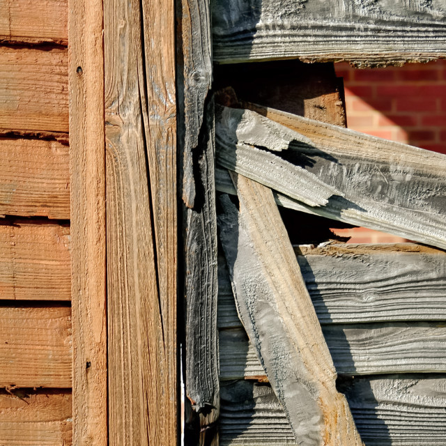 """""""new and old fencing"""" stock image"""