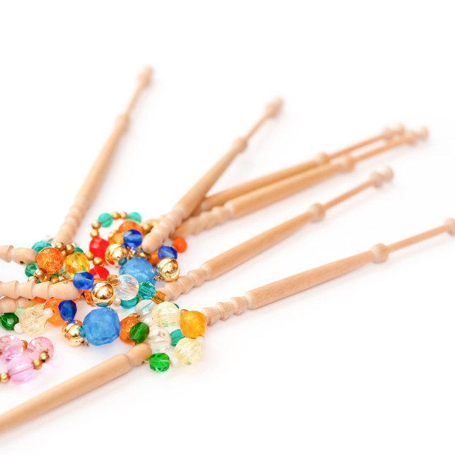 """beads and bobbins"" stock image"