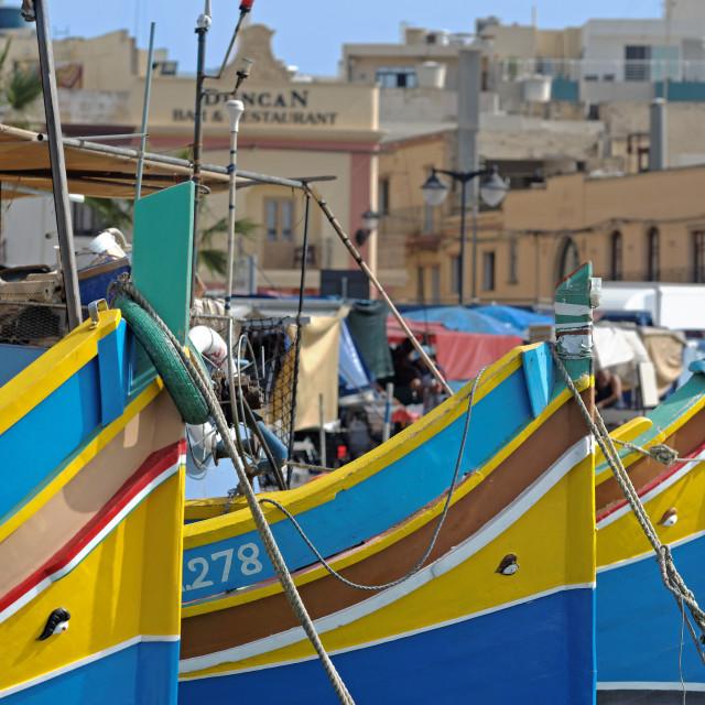 """""""Malta Marsaxlokk"""" stock image"""