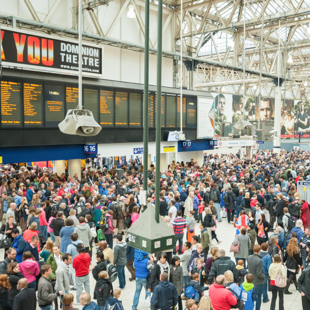 """Waterloo Station"" stock image"