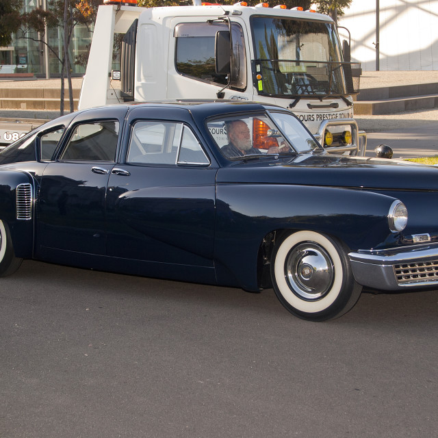 """Tucker 48 out for a drive"" stock image"