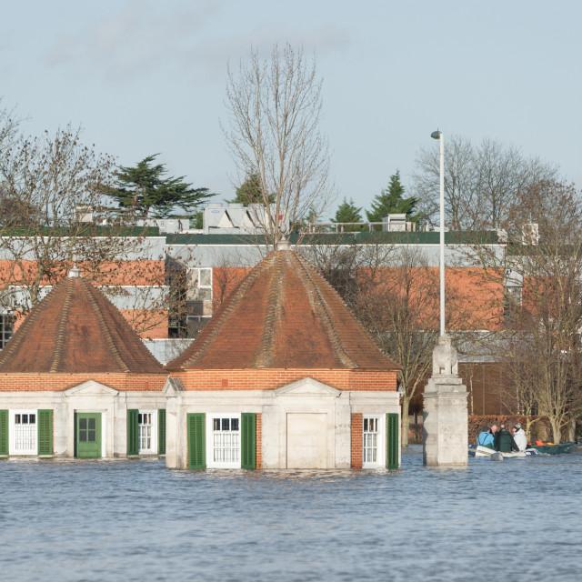 """River Thames flood"" stock image"