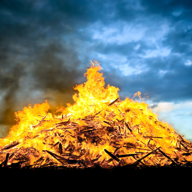 """bonfire"" stock image"