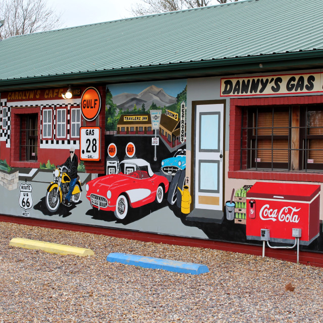"""Route 66 Store Art"" stock image"