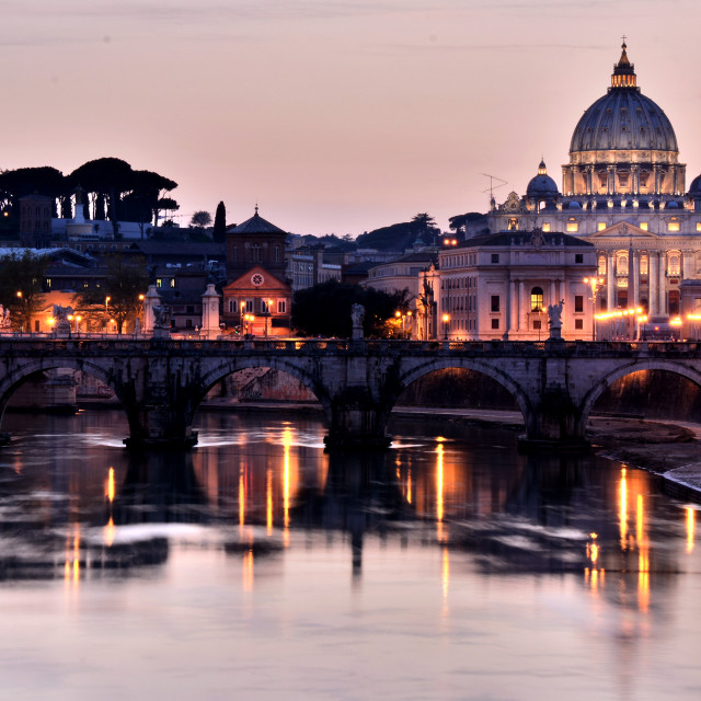 """a romantic view of San Pietro, Rome"" stock image"