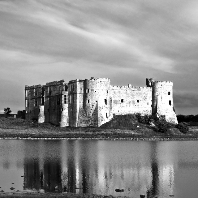 """Carew Castle in Pembrokeshire, south Wales"" stock image"