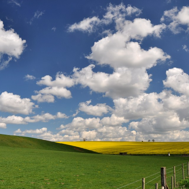 """Clouds over Sudbrook"" stock image"