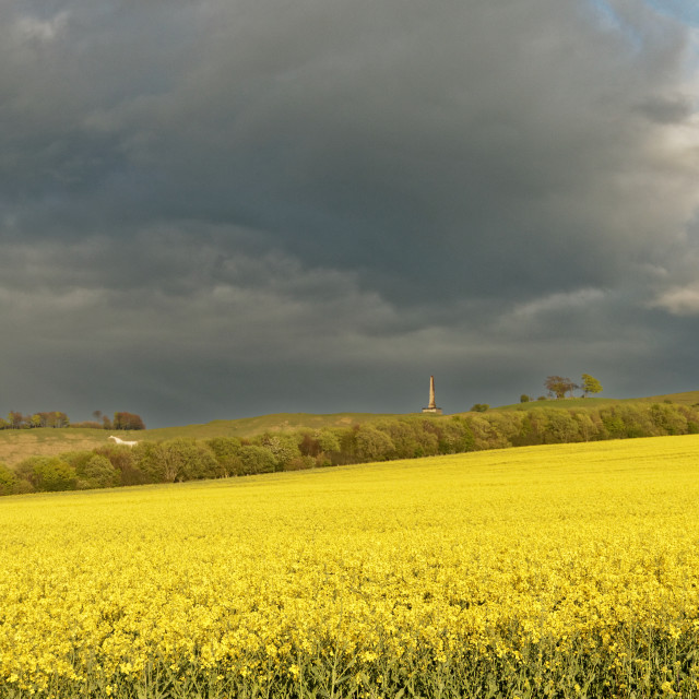 """Storm Clouds Over Cherhill"" stock image"