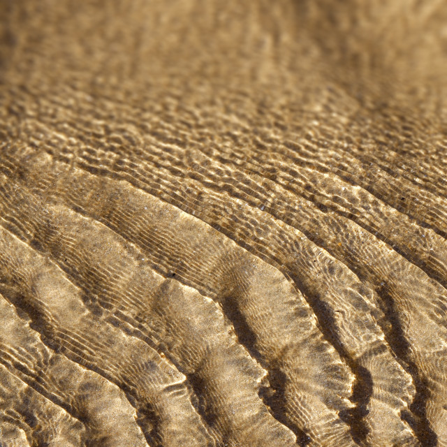 """""""Water ripples over a sandy beach"""" stock image"""