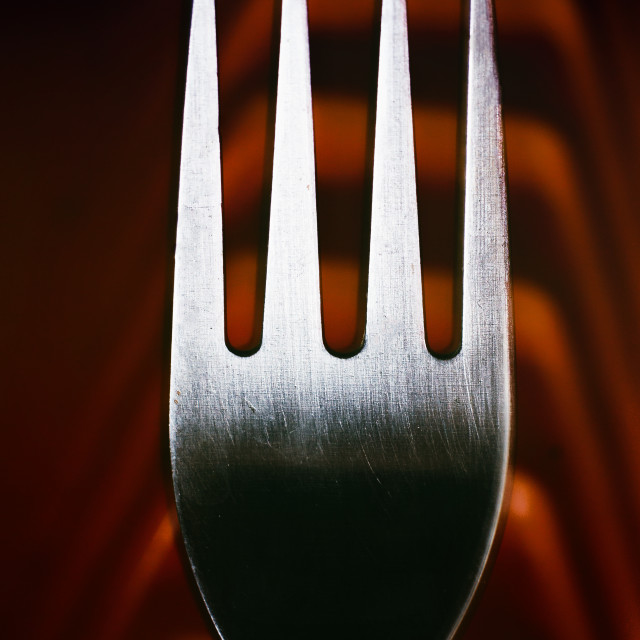 """fork - Abstract composition"" stock image"