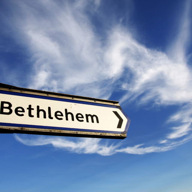"""Bethlehem road sign"" stock image"