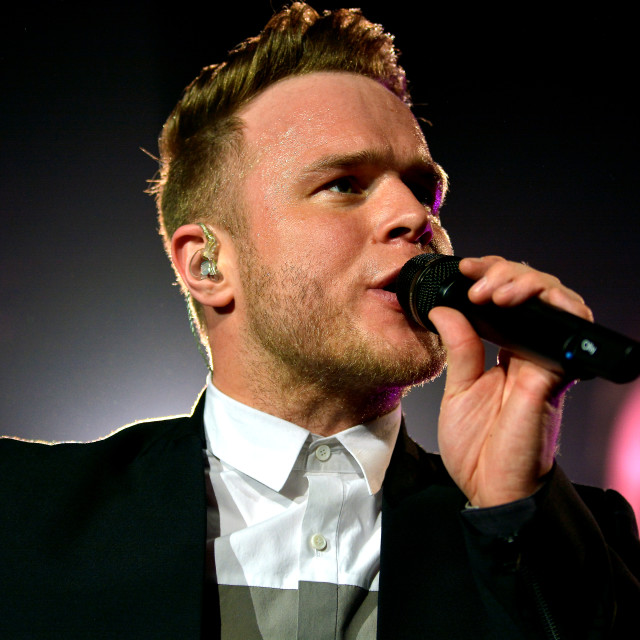 """Olly Murs in concert"" stock image"