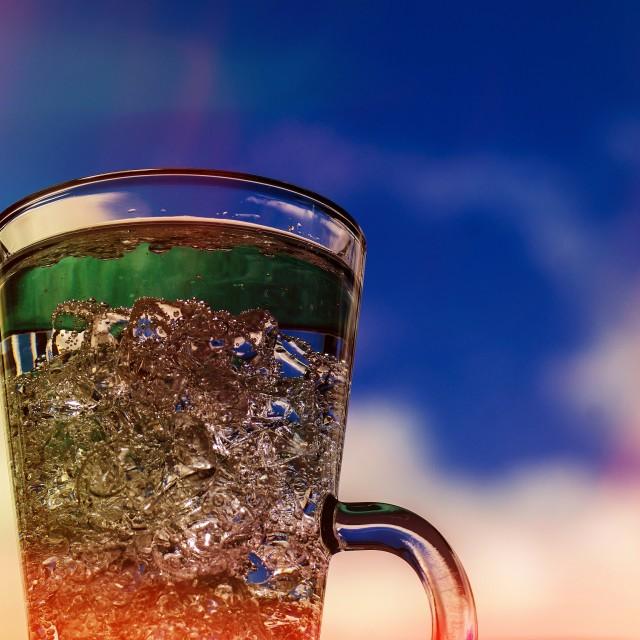 """""""Clear Liquid Blue Sky Lightleaks"""" stock image"""