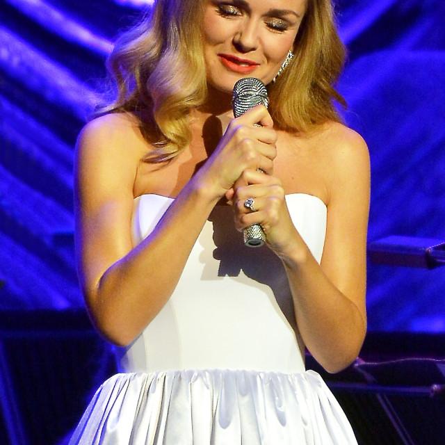 """Katherine Jenkins in concert"" stock image"