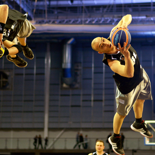 """Dunkers at the BBL Trophy Final 2015"" stock image"