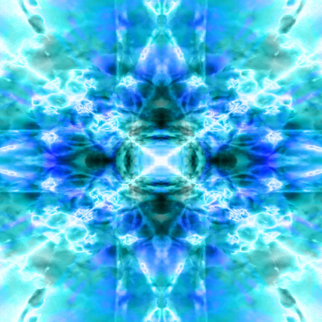 """Light blue kaleidoscope background"" stock image"