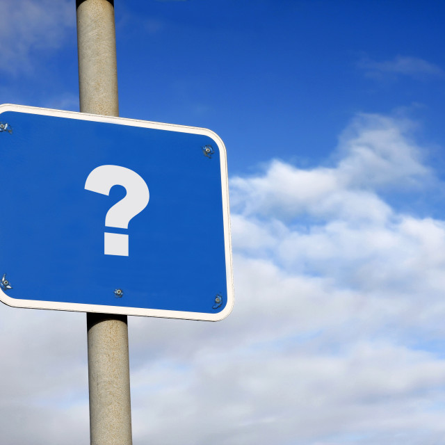 """""""Question mark sign"""" stock image"""
