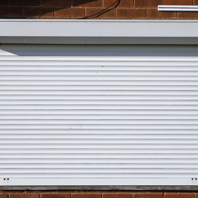 """""""Closed security shutters"""" stock image"""