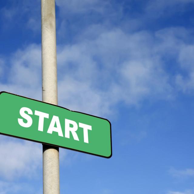 """""""Green start sign"""" stock image"""