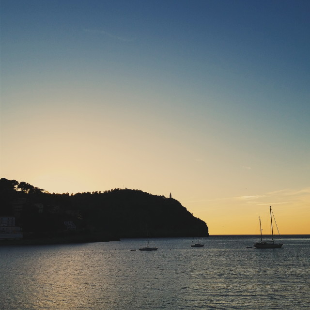 """Soller sunset 2"" stock image"