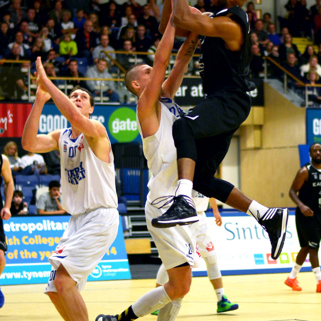 """Andre Jones Newcastle Eagles"" stock image"