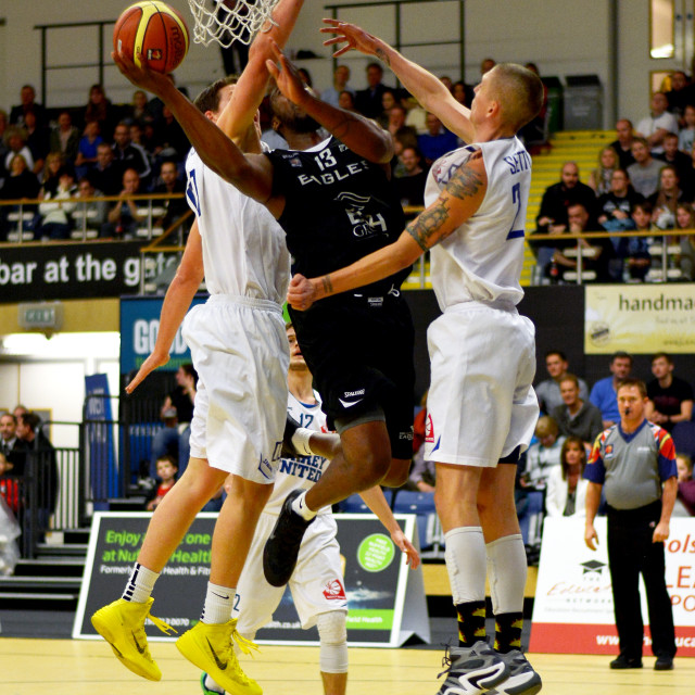 """Darius Dafoe of the Newcastle Eagles"" stock image"