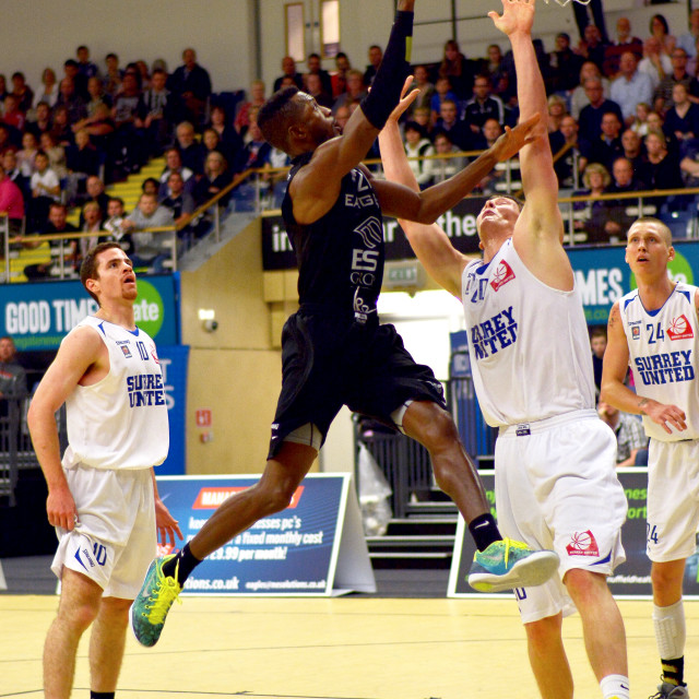 """Drew Lasker of the Newcastle Eagles"" stock image"