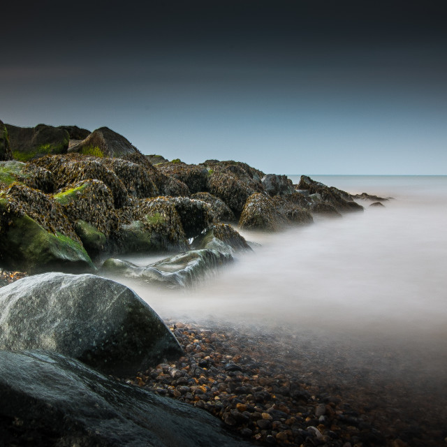 """Sheringham Beach, Norfolk"" stock image"