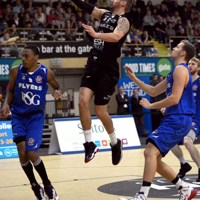 """Stuart Thompson of the Newcastle Eagles"" stock image"