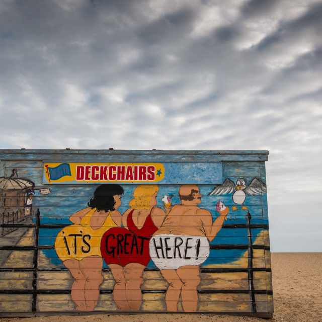 """Deckchair Hut"" stock image"